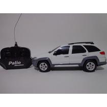 Carro Controle Remoto Fiat Palio Adventure Branco 1/18 Cks