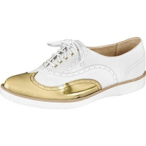 Sapato Feminino Oxford Firezzi Prata Rose Dourado 179301