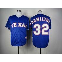 Franela Mlb Rangers Texas Majestic Talla: 52 Original