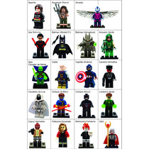 Minifigures Marvel Dc Star Wars Bloco De Montar