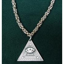 Ojo Que Todo Lo Ve Illuminati Con Cadena Tejida