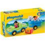 Playmobil 6958 Coche Remolque Con Caballo Linea 123 Original