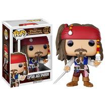 Piratas Do Caribe Capitão Jack Sparrow Boneco Funko 10cms