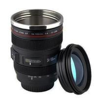 Caneca Termica Lente Canon 24-105mm - Copo De Alumínio Nova