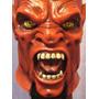 Diablo Mascara Latex Halloween Terror Satanás
