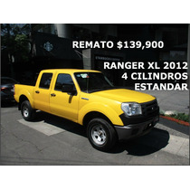 Pick-up Ford Ranger Xl 2012 Estandar 4 Puertas 4 Cilindros !