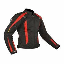 Chamarra Para Motociclista R7 Racing Roja R7-415 Textil