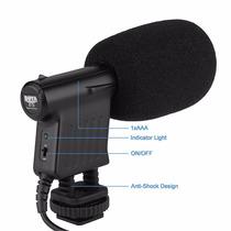 Microfono Shotgun Compacto Boya By-vm01 Pro Video Para Dslr