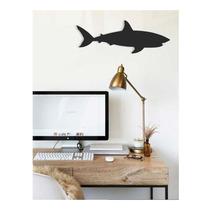 Silueta Tiburon Decoracion Interiores Melamina Obscura 15mm
