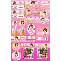Kit Imprimible Baby Shower Bautizo Angelitos 30 Etiquetas