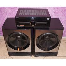 Kit Monstro Par Subs 30cm Muteki M77 + Amplificador De 400w