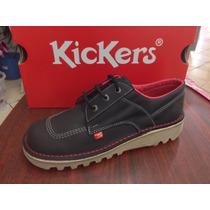 Zapatos Kickers Casuales Y De Vestir 100% Piel Suela Tractor