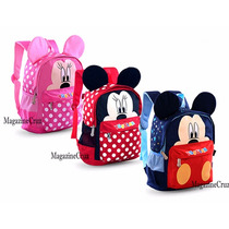 Mochila Infantil Importada Minnie Mickey Personagem Disney