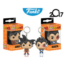 Set Vegeta Goku Funko Pop Keychain Llavero Dragon Ball Z