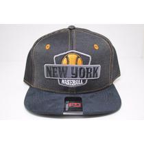 Boné Snapback Aba Reta Federal Co Baseball New York Original