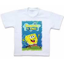 Camiseta Bob Esponja Blusa Camisa Personalizada Roupas