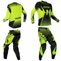 Conjunto Kit Calça + Camisa Ims Fluor 2016 Trilha Motocross