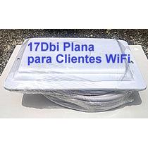 Antena Cliente Wifi 17dbi Direccional + Sma + Cable 10mts