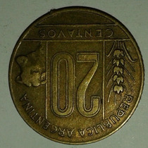Argentina Moneda 20 Centavos Año 1950 Torito