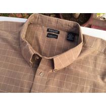 Camisa Casual Van Heusen Tallas Extra 4xl 54/56 Cafe Cuadros