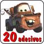 20 Adesivos Carros Disney Relâmpago Mcqueen + Frete Grátis