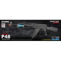 Marcadora P48 Tactical Ak-47 Spring Rifle With Laser