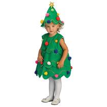 Disfraz Vestido Para Niñas Pino De Navidad