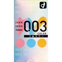Okamoto 003 Látex 0.03mm 3 Color Surtido Condón (japón Impor