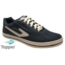 Tênis Sapatênis Topper Dominator L.e Azul Ou Preto 20% Off