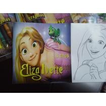 12 Invitaciones Rapunzel Para Colorear Incluye 4 Crayolas