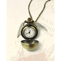 Colar Relógio Pomo De Ouro Harry Potter - Frete Só 5 Reais!!
