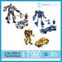 Set 3 Kreo Transformers Block Original Hasbro 241 Piezas