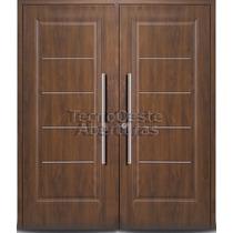 Portón Puerta Doble Oblak Eterna 1109c Cedro 160x200 Cm