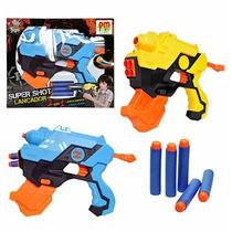 Pistola / Lancador Super Shoot 2 Em 1 Lanca Dardo E Agua