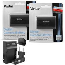 2 Baterias + Cargador Lp-e6 Canon 5d Mark Ii Iii 7d Vivitar