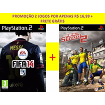 Fifa 14 + Fifa Street 2 Para Playstation 2 (kit 2 Jogos Ps2