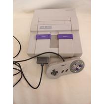 Antigo Video Game Super Nintendo - Funcionando