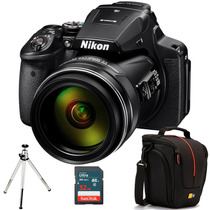 Nikon P900, Zoom 83x, Wi-fi, Gps + Caselogic + 32gb + Tripé