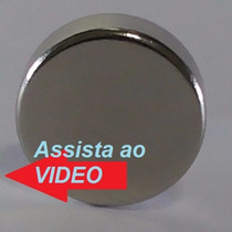 Super Imã Neodímio 15x5mm N35 2800 Gauss Suporta 4,5kg Top!