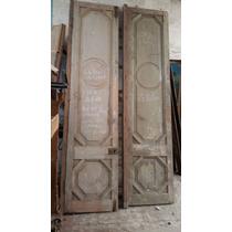 Dos Puertas Antiguas De Frente Original Con Marco