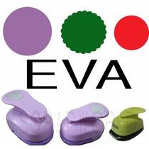 Furadores Eva Círculo Liso 5cm + Escalop 3,8cm + Liso 2,5cm