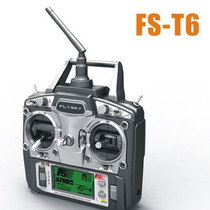 Radio Controle 6ch Drone Aeromodelo Heli Flysky Fs T6 2.4ghz