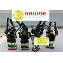 Lego Compativel Exercito Brinquedo 4 Pc Montar Blocos Armas