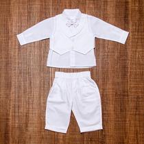 Conjunto Bebê Masculino Batizado 4 Peças - 01220018a