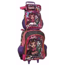 Kit Mochila Monster High Beauty Freaky Roda+lancheira+estojo