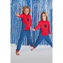 Pijama Hombre Araña Para Chicos Coleccion Invierno.