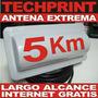 Antena 5km Todo Clima Doble Biquad 15 Dbi Cliente Internet