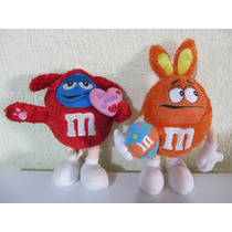 Peluche Chocolates M&m Azul Y Naranja 24cm