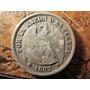 Antigua Moneda Plata Chile Un Peso Aguila 1882 Muy Buena