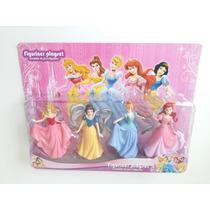 Kit Bonecas Princesas Aurora Branca De Neve Cinderela Ariel